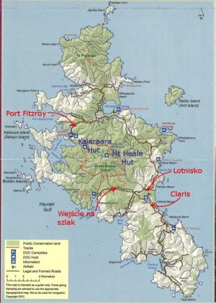 Aotea - mapa