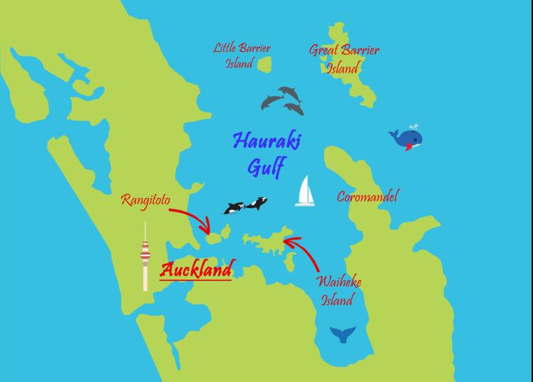Hauraki Gulf mapa